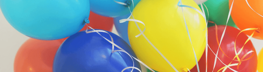 different colour of balloons