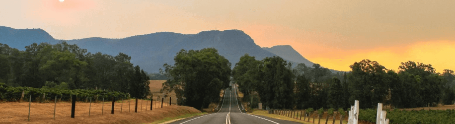 a highway in the hunter valley